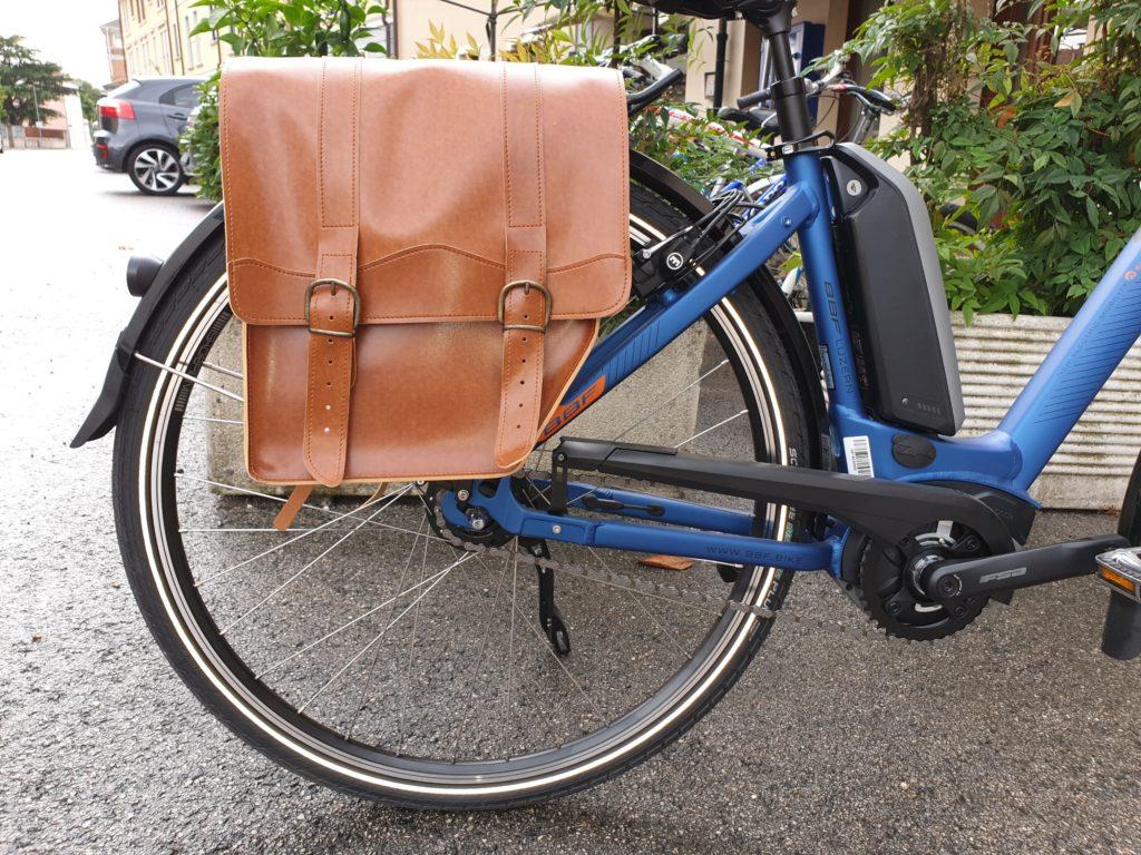 borsa portapacchi bici retro