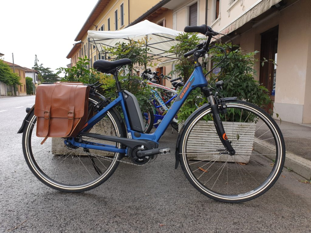 borsa bici vintage cuoio